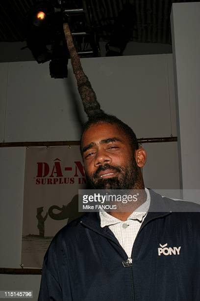 Celebrities at MercedesBenz Fashion Week in Los Angeles Culver City United States on October 28 2004 John Norwood Fisher bassist of the band...