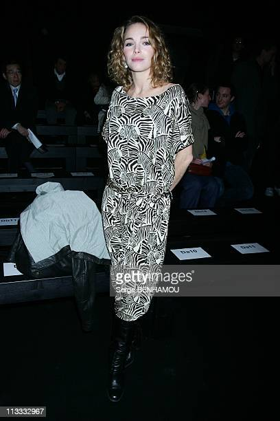 Celebrities At Paul Joe FallWinter 20082009 Ready To Wear Fashion Show In Paris France On March 01 2008 Claire Keim