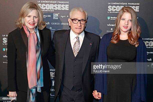 Celebrities at the evening Gala for the opening of the exhibition dedicated to Martin Scorsese at the Cinematheque in Paris on October 13 2015 the...