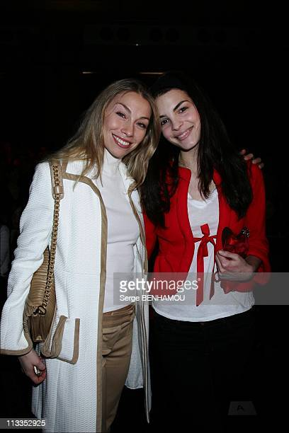 Celebrities At Valentino FallWinter 2008 Ready To Wear Fashion Show In Paris France On February 28 2007 Eleonora Abbagnato and Bojana Panic
