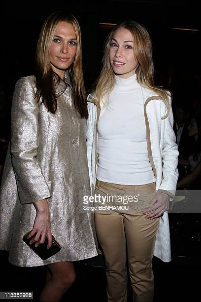 Celebrities At Valentino FallWinter 2008 Ready To Wear Fashion Show In Paris France On February 28 2007 Molly Sims and Eleonora Abbagnato