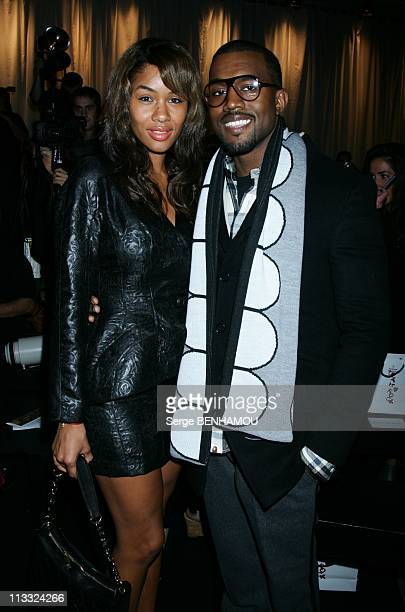 Celebrities At Westwood Ready To Wear SpringSummer 2008 Fashion Show In Paris France On October 01 2007 Kanye West and his wife