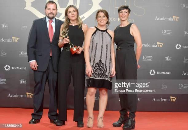 Celebrities attend 'Iris Academia de Television' awards at Nuevo Teatro Alcala on November 18 2019 in Madrid Spain