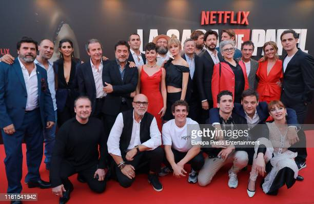 Celebrities attend 'La Casa de Papel' Season 3 Premiere at Callao Cinema on July 11 2019 in Madrid Spain