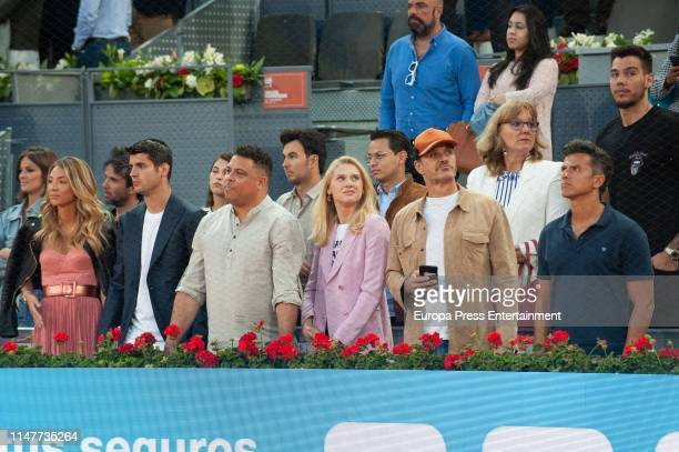 Celebrities attend Mutua Madrid Open at La Caja Magica on May 07 2019 in Madrid Spain