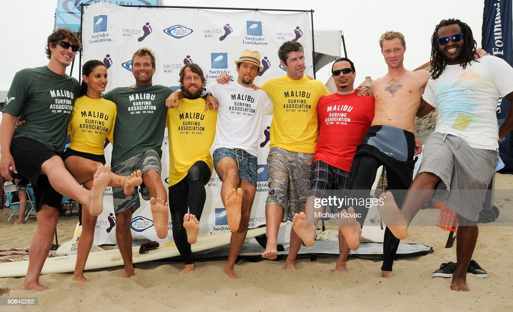 Celebrities attend the 4th Annual Surfrider Foundation Celebrity Expression Session at First Point, Surfrider Beach on September 12, 2009 in Malibu, California.