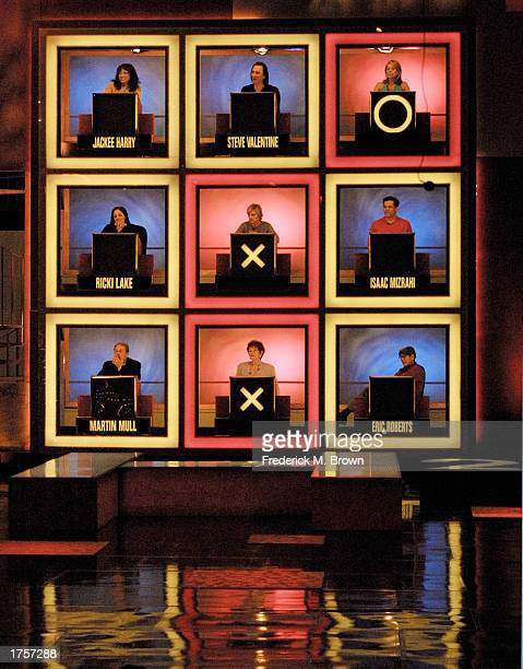 Celebrities attend the taping of the Hollywood Squares game show at the CBS Television City Studios on February 1 2003 in Los Angeles California The...