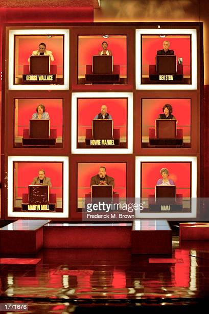 Celebrities attend the taping of the Hollywood Squares Game Show at the CBS Television City Studios on February 8 2003 in Los Angeles California The...