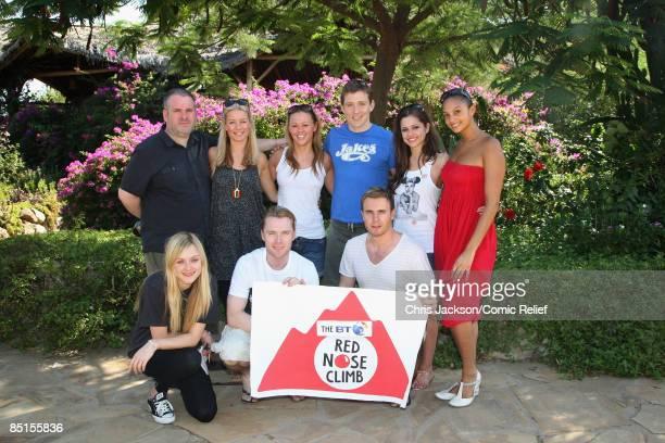 Celebrities Chris Moyles Denise Van Outen Kimberley Walsh Ben Shephard Cheryl Cole Alesha Dixon Fearne Cotton Ronan Keating and Gary Barlow pose for...