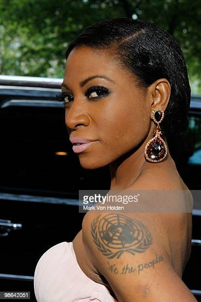 """Celebrity activist Suzanne """"Africa"""" Engo attends the I Love Africa private send off dinner for the Riviera to Africa Run for Aids Awareness hosted by..."""