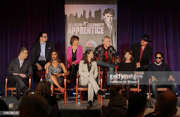 Celebrity Apprentice stars Penn Jillette Lisa Rinna Gary Busey Trace Adkins Stephen Baldwin Omarosa Manigault Executive Producer Page Feldman...