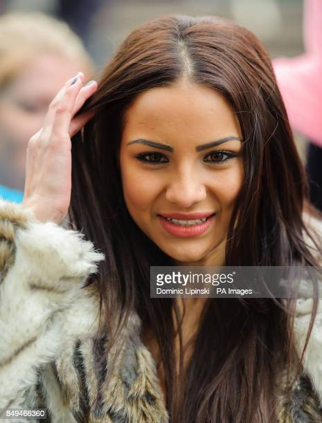 Celebrity Big Brother contestant Lacey Banghard at a photocall in Piccadilly Circus London to promote PETA's campaign to sterilise cats and dogs to...