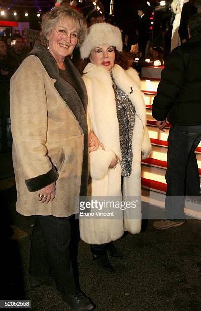 Celebrity Big Brother III housemate Jermaine Greer and Jackie Stallone for photographs outside the Big Brother house at Elstree Studios on January 23...