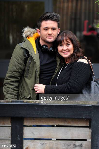 Celebrity Big Brother winner Coleen Nolan and son Shane Richie Jnr seen at the ITV Studios sighting on February 6 2017 in London England