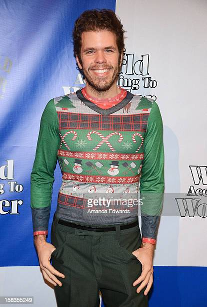 Celebrity blogger Perez Hilton arrives at the World Of Wonder book release party/birthday bash at The Globe Theatre at Universal Studios on December...
