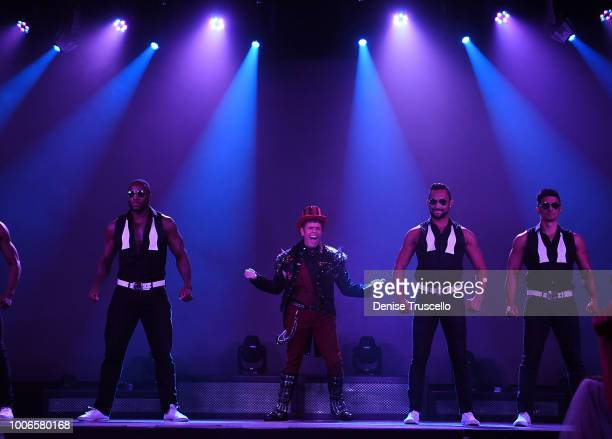 Celebrity Blogger Perez Hilton guest hosts Chippendales at Rio AllSuite Hotel And Casino on July 27 2018 in Las Vegas Nevada