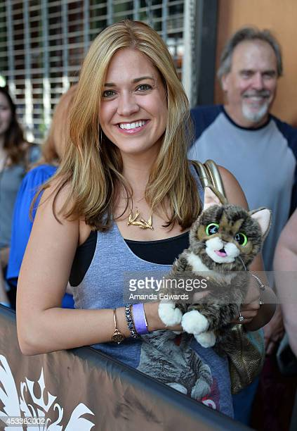 Lil bub meet and greet los angeles ca stock photos and pictures celebrity cat lil bub fan kate edwards attends the lil bub meet and greet at the m4hsunfo