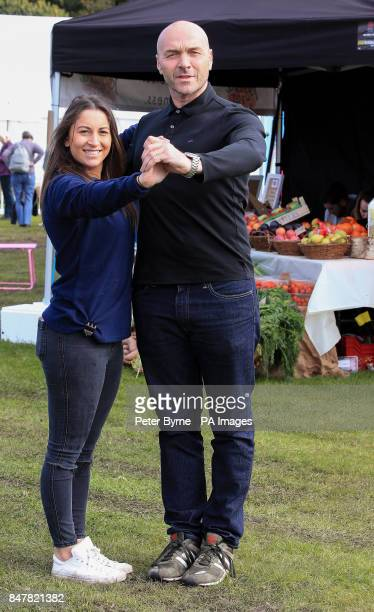 Celebrity chef and Strictly Come Dancing star Simon Rimmer has a quick dance with Lauren Davidson from food producer Baba Ghanoush during the...