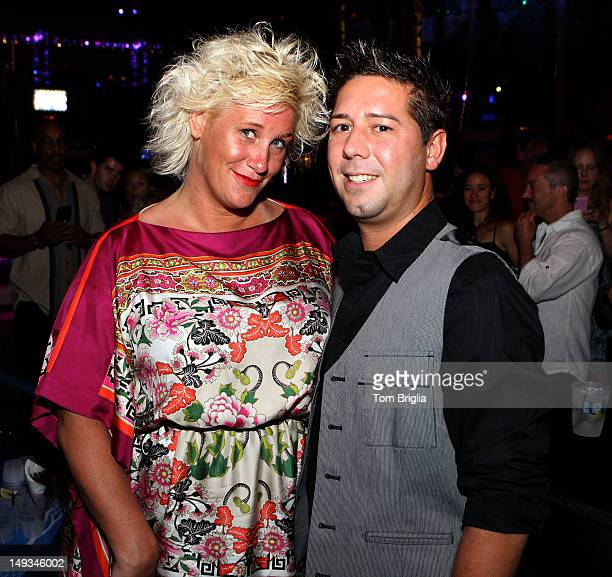 Celebrity chef Anne Buttell and Hell's Kitchen Contestant Justin Antiorio attend the 2012 Atlantic City Food and Wine Festival's Poolside Launch...