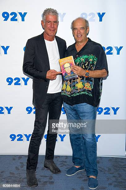 Celebrity chef Anthony Bourdain and Hollywood film agent Shep Gordon attend Shep Gordon with Anthony Bourdain 'They Call Me Supermensch' at 92nd...