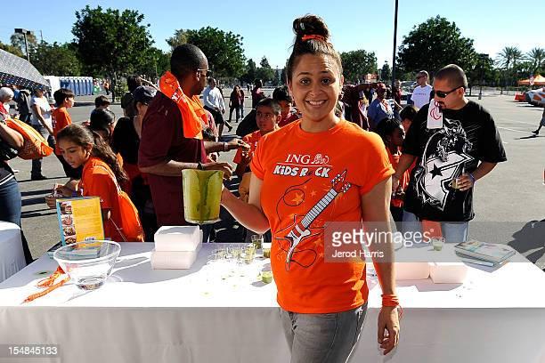 Celebrity chef Antonia Lofaso participates in the ING KiDS ROCK Los Angeles Half Marathon on October 27 2012 in Los Angeles California