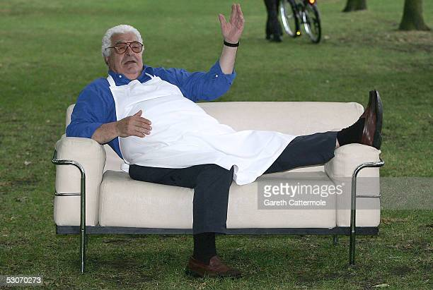 Celebrity chef Antonio Carluccio poses at a photocall to promote 'Taste Of London' in Regent's Park on June 15 2005 in London England The four day...