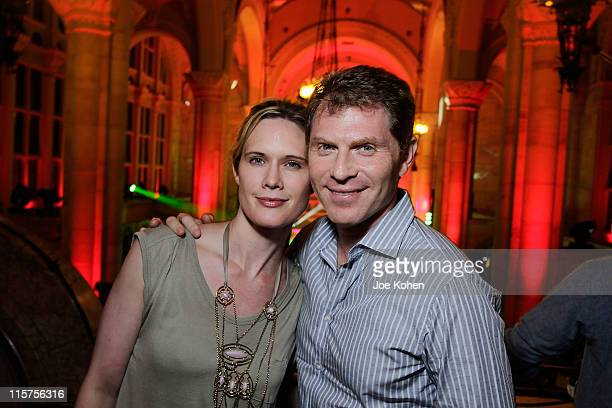 Celebrity chef Bobby Flay and wife actress Stephanie March attend the Heineken Red Star Access GOOD Music Presented By Kanye West at Skylight One...