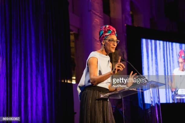 Celebrity chef Carla Hall speaks at The Smithsonian National Museum of African Art's 2nd annual African Art Awards Dinner Chef Hall created the menu...