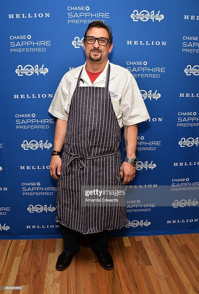 Celebrity chef Chris Cosentino arrives at the 'Hellion' premiere party at Chase Sapphire on January 17, 2014 in Park City, Utah.