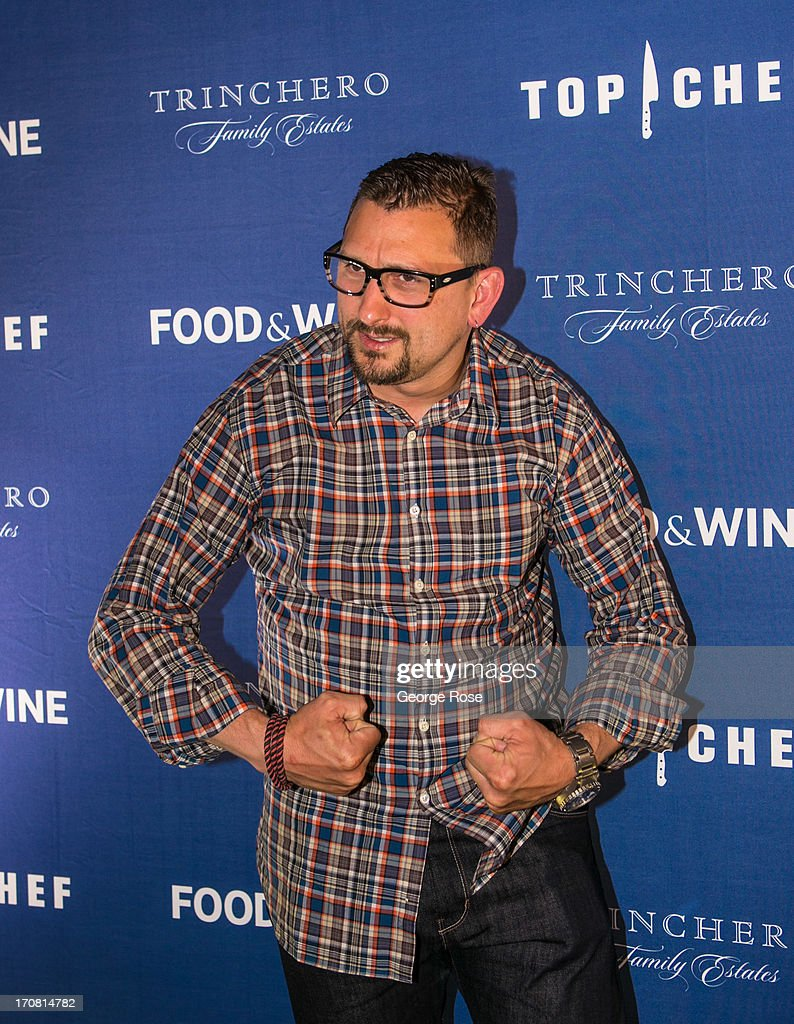 Celebrity chef Chris Cosentino poses for photographers on June 13, 2013, in Aspen, Colorado. The 31st Annual Food & Wine Classic brings together the world's top chefs and vintners in a culinary and beverage celebration.