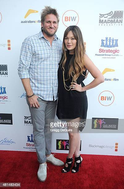 Celebrity chef Curtis Stone and actress Lindsay Price arrive at the premiere Of That Sugar Film hosted by Australians In Film on July 20 2015 in Los...