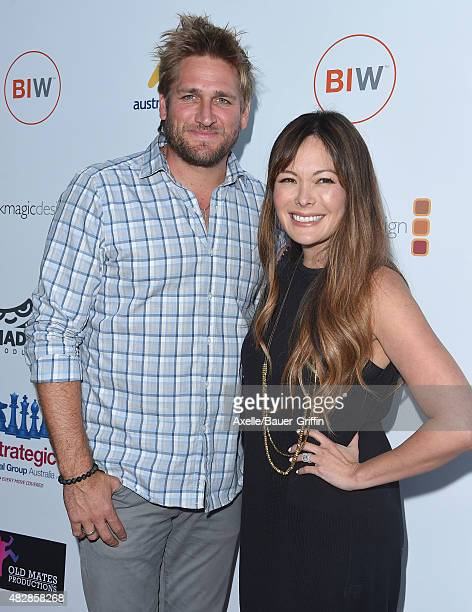 Celebrity chef Curtis Stone and actress Lindsay Price arrive at the premiere Of 'That Sugar Film' hosted by Australians In Film on July 20 2015 in...