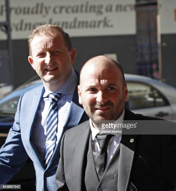 Celebrity chef George Calambaris arrives to Downing Centre Local Court on September 8 2017 in Sydney Australia The celebrity chef was charged with...