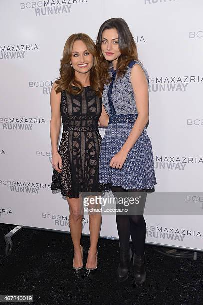 Celebrity chef Giada De Laurentiis and actress Phoebe Tonkin pose backstage at BCBGMAXAZRIA fashion show during MercedesBenz Fashion Week Fall 2014...