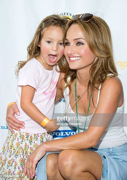 Celebrity chef Giada De Laurentiis and her daughter Jade Thompson arrive at the LA Loves Alex's Lemonade Culinary Event at Culver Studios on...