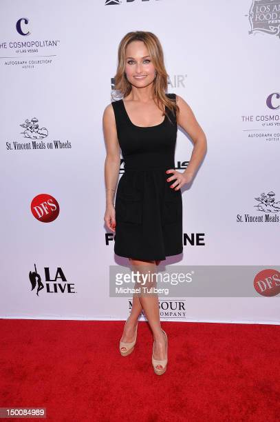 Celebrity chef Giada de Laurentiis arrives at the opening night gala for the Los Angeles Food Wine Festival at Nokia Plaza LA LIVE on August 9 2012...