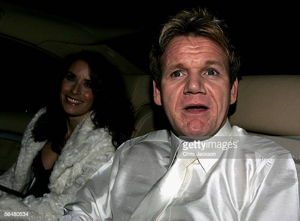 Celebrity Chef Gordon Ramsay and his wife Tana arrive for the reception following Sir Elton John and David Furnish's civil partnership ceremony held...