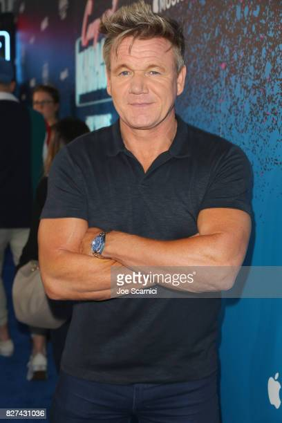 Celebrity Chef Gordon Ramsay at Apple Music Launch Party Carpool Karaoke The Series with James Corden on August 7 2017 in West Hollywood California