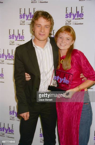 Celebrity chef Jamie Oliver and actress Patsy Palmer at the Elle Magazine Style Awards at the Home Club London 21st September 1999