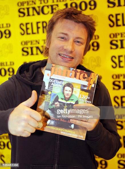 Celebrity chef Jamie Oliver launches his new monthly magazine, Jamie