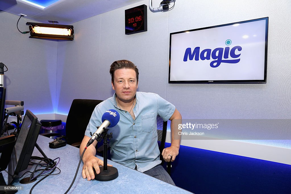 Celebrity Chef Jamie Oliver visits Magic Radio on July 15, 2016 in London, England.