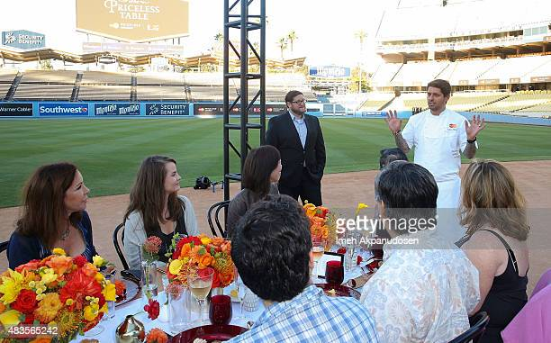 Celebrity chef Ludo Lefebvre partnered with MasterCard to curate a oneofakind dining experience in support of Stand Up To Cancer at Dodger Stadium...