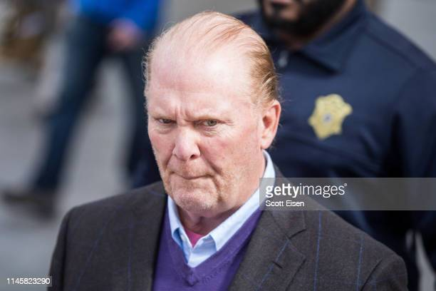Celebrity chef Mario Batali leaves Boston Municipal Court following an arraingment on a charge of indecent assault and battery in connection with a...
