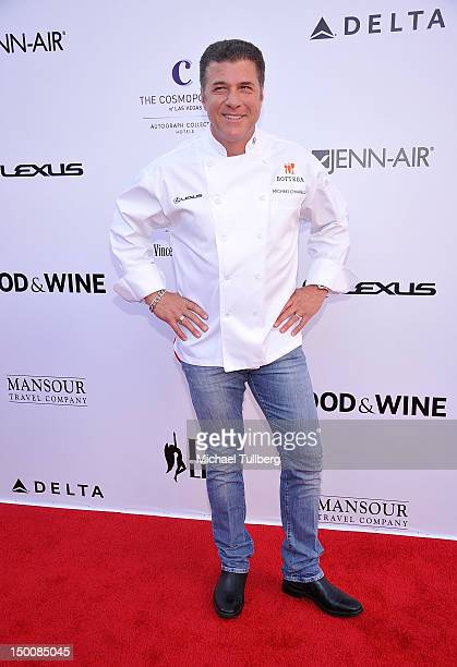 Celebrity chef Michael Chiarello arrives at the opening night gala for the Los Angeles Food Wine Festival at Nokia Plaza LA LIVE on August 9 2012 in...
