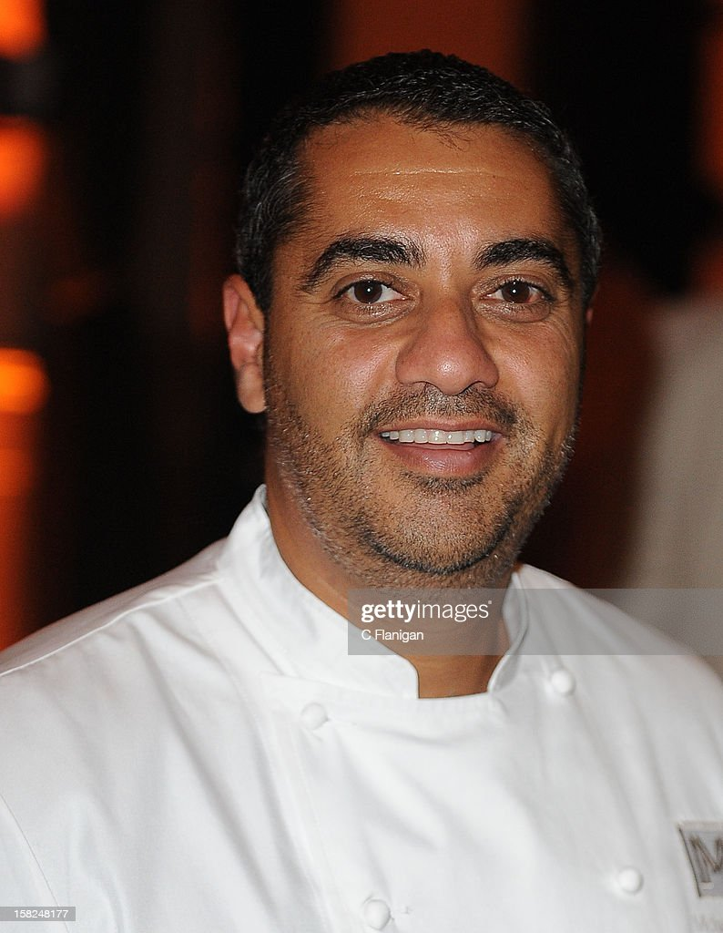 Celebrity Chef Michael Mina poses backstage during the Global Green Gorgeous & Green Gala at The Bently Reserve on December 11, 2012 in San Francisco, California.