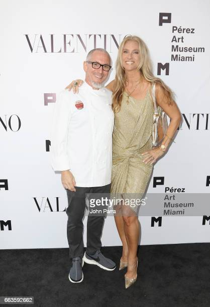 Celebrity Chef Michael Schwartz and wife Tamara Schwartz at PAMM Art Of The Party Presented By Valentino at Perez Art Museum Miami on April 1 2017 in...
