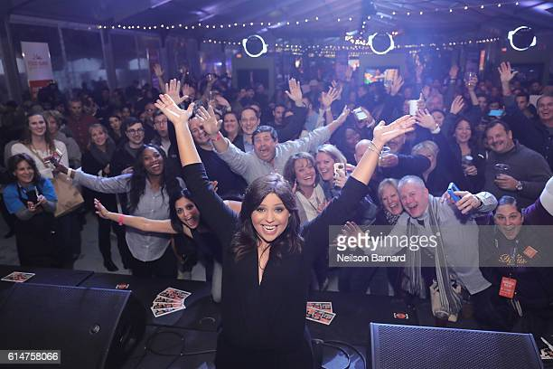 Celebrity Chef Rachael Ray speaks onstage during the Blue Moon Burger Bash presented by Pat LaFrieda Meats hosted by Rachael Ray at the Food Network...