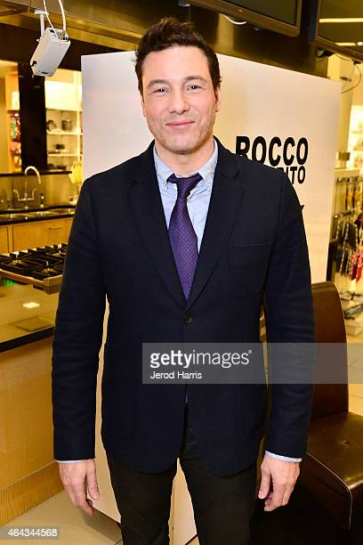 Celebrity Chef Rocco DiSpirito signs copies of his book 'Cook Your Butt Off' at Bloomingdale's South Coast Plaza on February 24 2015 in Costa Mesa...