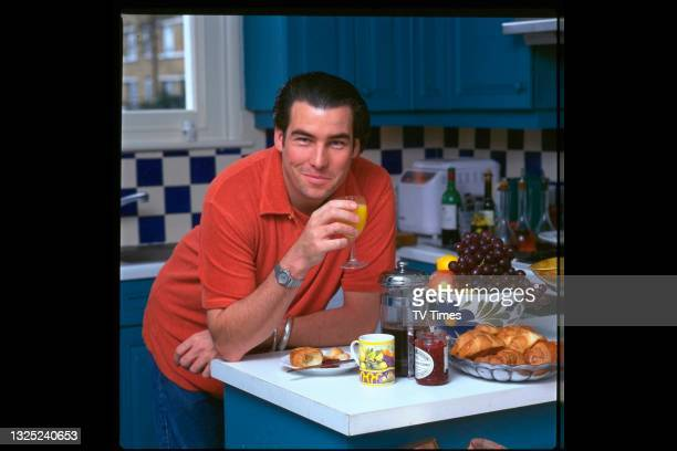 Celebrity chef Ross Burden photographed at home on June 7, 1997.