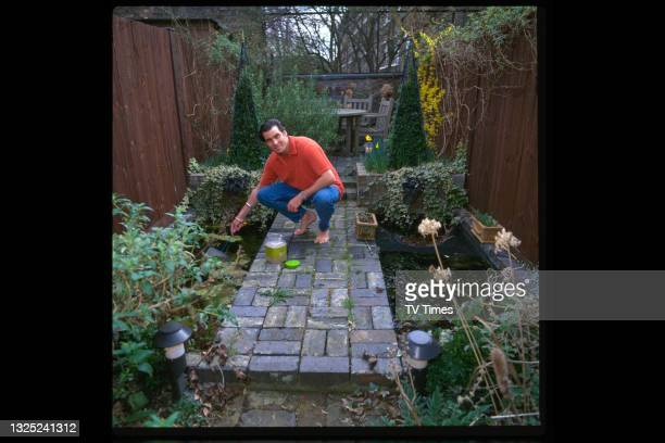 Celebrity chef Ross Burden photographed in his garden at home on June 7, 1997.